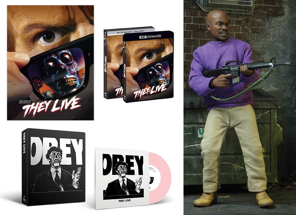 DELUXE OFFER: THEY LIVE [Collector's Edition] + Exclusive NECA Action Figure + Poster + Exclusive Vinyl